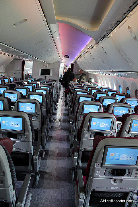 Economy consists of a tight 232 seats in a squeezing 3-3-3 layoutPhoto: ©AirlineReporter.com via AusBT